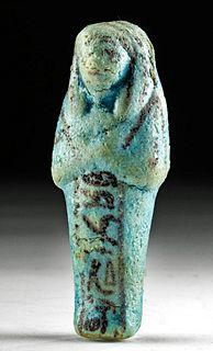Egyptian Glazed Faience Ushabti w/ Glyphs