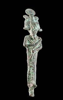 Fine Egyptian Leaded Bronze Osiris Figurine