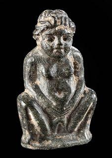 Miniature Egyptian Ptolemaic Steatite Amulet of Baubo