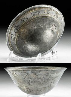 Greek Hellenistic Gilt Silver Mastoid w/ Zoomorphs