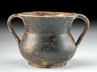 Greek Campanian Blackware Kantharos