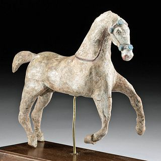 Rare Canosan Polychrome Terracotta Horse w/ TL