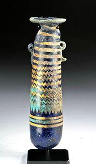 Greek Hellenistic Core Formed Glass Alabastron