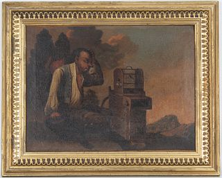 17th C. Old Master Painting of Traveling Salesman