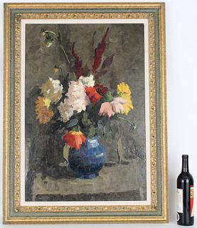 Signed, 20th C. Russian Still Life. Gallery Label