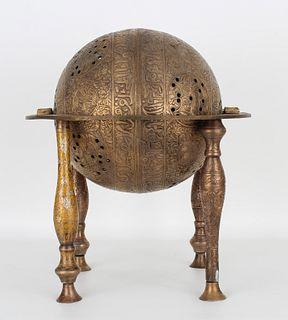 Antique Bronze Persian Celestial Globe Astrolabe