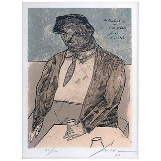 JOSÉ LUIS CUEVAS, Autorretrato, Firmada y fechada 12, Serigrafía 20 / 100, 45 x 37 cm | JOSÉ LUIS CUEVAS, Autorretrato, Signed and dated 12, Serigraph