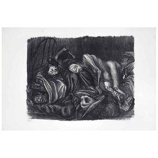 JOSÉ CLEMENTE OROZCO, Borrachos (Wild party), de la Suite Mexicana, 1935 Firmada, Litografíia 58/120, 30 x 39 cm | JOSÉ CLEMENTE OROZCO, Borrachos (Wi