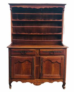 Antique French Louis XV Cherry Vaisellier 1760