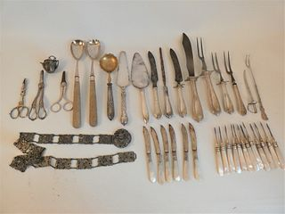 LOT OF SILVER & SILVER PLATED ITEMS