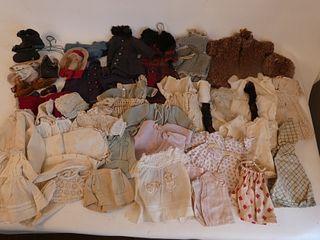 LOT ANTIQUE DOLL CLOTHES