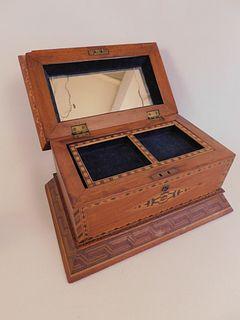 ANTIQUE INLAID JEWEL BOX