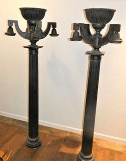 STANFORD WHITE IRON LAMP POSTS