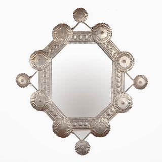 "Ildeberto ""Eddie"" Delgado, New Mexican Tin Mirror, ca. 1930"