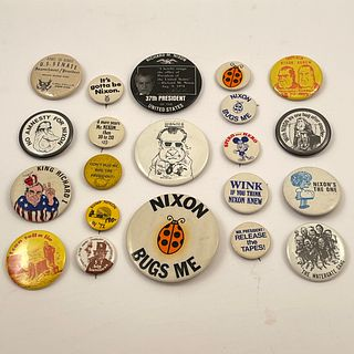 55 Unusual Vintage Watergate President Nixon Buttons