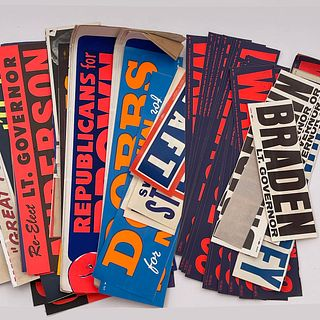 Lot of Vintage Campaign Bumper Stickers