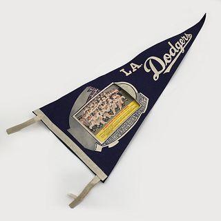 Two 1966 Los Angeles Dodgers Baseball League Champion Pennants