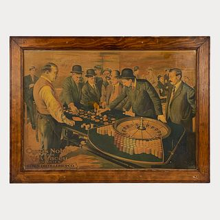 Antique Cyrus Noble Whiskey San Francisco Roulette Sign