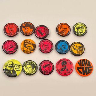 14 Vintage Revolutionary Socialist Cub Buttons