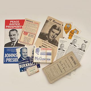 Lot of Various Vintage and  Antique Political Ephemera