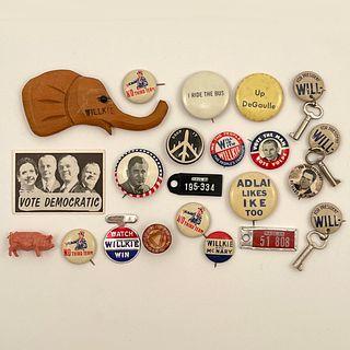 Group Antique and Vintage Political Campaign Buttons
