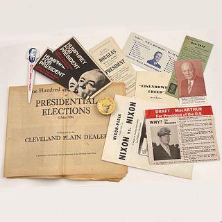 LARGE Lot of Vintage Political Campaign Ephemera
