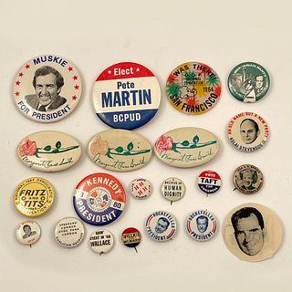 55 Vintage Various Election Campaign Buttons