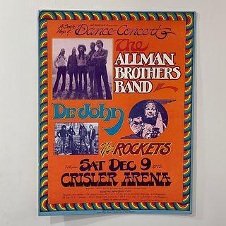 Allman Brothers at Chrisler Arena Concert Poster