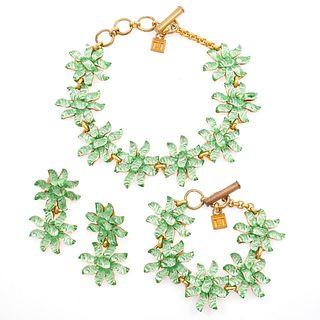 Gavilane Paris Pate De Verre Glass Jewelry Suite