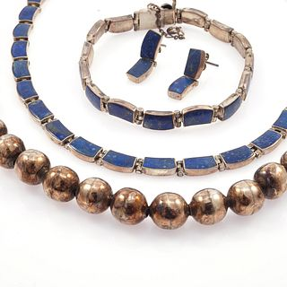 Lapis Lazuli, Sterling Silver Jewelry Suite