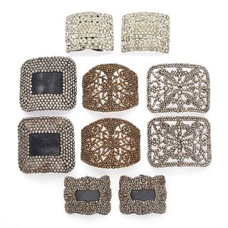 Collection of Antique Shoe Buckles and Clips
