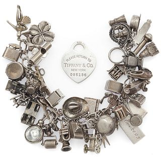 Tiffany & Co. Charm with Vintage Sterling Charm Bracelet