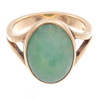 Jade, 14k Yellow Gold Ring