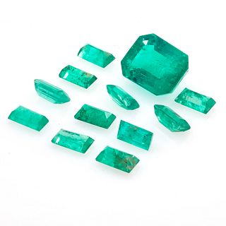 Collection of Unmounted Emeralds