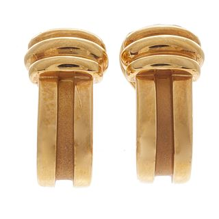 Pair of Tiffany & Co.18k Yellow Gold Ear Clips