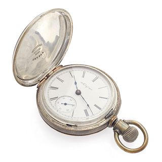 Elgin Coin Silver Hunting Case Pocket Watch