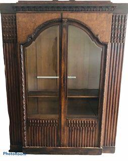 1900 Emil Gerstel Prague Walnut Bookcase