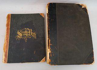 Two Burden Family Scrapbooks