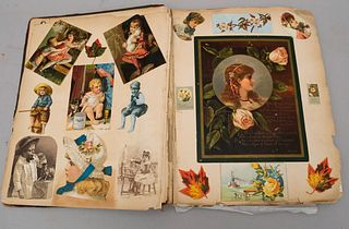 Lot of 2 1880's Trade Card Albums