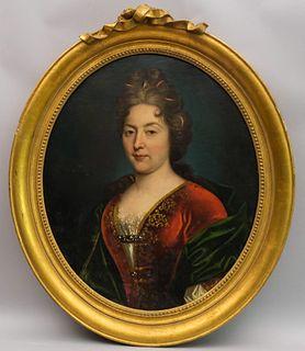 Attr. Nicolas de Largilliere, Portrait of a Lady