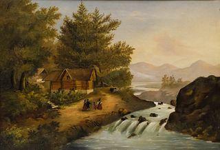 American Primitive River Landscape