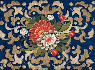 Victorian Beaded Needlepoint Picture
