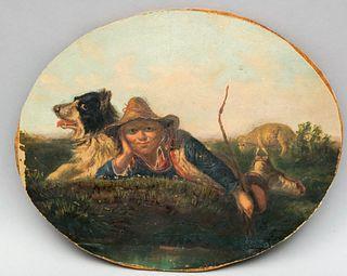 European School, Shepherd Boy and Sheep Dog