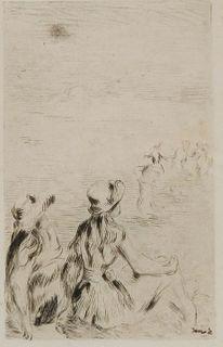 """Pierre-Auguste Renoir, """"Sur la Plage, a Berneval"""""""
