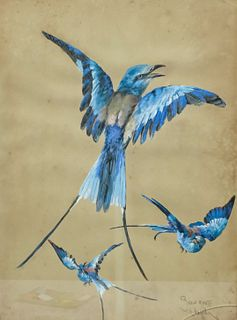 William Mussill, Study of Three Birds, Swallows