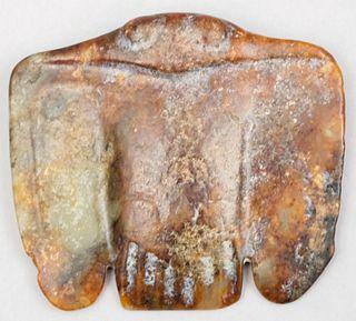 Chinese Hongshan Jade Eagle Amulet Neolithic Era