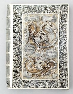 Antique Chinese Silver Filigree Dragon Card Case