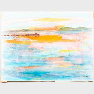 Murray Hantman (1904-1999): Maine Riverlets; Breakwater; and Untitled