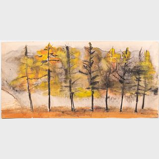 William Thon (1906-2000) : Row of Trees; and Untitled: Three Works