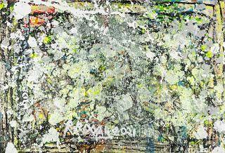 "RAPO RIXXAR (Barcelona, 1977). ""Hidden sea turtles"", 2021. Acrylic on canvas."